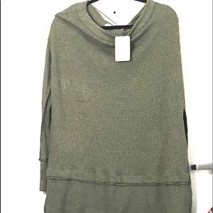 Free People waffle knit thermal top